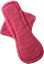 Afbeelding van EcoFemme nachtverband rood