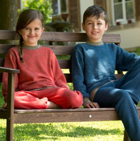 Beeld van Engel wollen pyjama