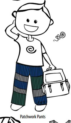 Afbeelding van MaM patchwork pants