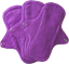 Afbeelding van EcoFemme inlegkruisjes zonder PUL paars