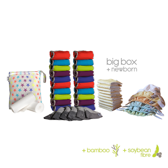 Beeld van Close Pop-in bamboo big + newborn box